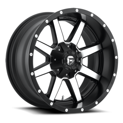 Fuel Wheels D537 Maverick Black Machined (D537)