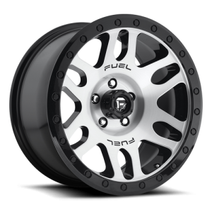 Fuel Wheels D585 Recoil Black Machined (D585)