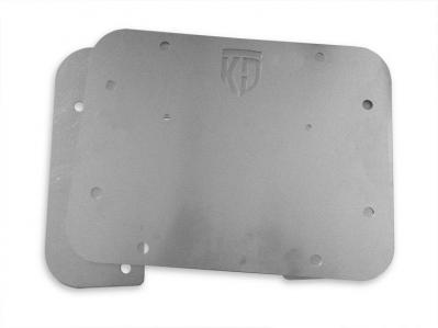 KD Fabworks 10-16 Jeep JK Tire Carrier Delete with License Plate Mount (JK-1002)
