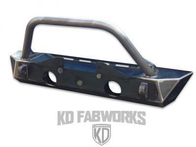KD Fabworks 07+ JK Front Rock Crawler Bumper with Hoop (JK-F0716H)