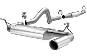 MagnaFlow 12-16 4dr JK MF Series 2.5in Cat Back Single Outlet Polished Tip Stainless Exhaust (15115)