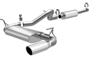 MagnaFlow 12-16 2dr JK MF Series 2.5in Cat Back Single Outlet Polished Tip Stainless Exhaust (15116)