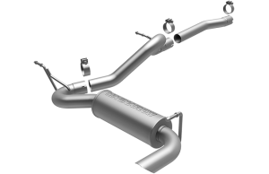 MagnaFlow 12-16 2dr JK Competition Series 2.5in Cat Back Single Outlet Satin Tip Stainless Exhaust (15118)