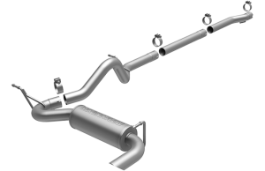 MagnaFlow 07-11 4dr JK Competition Series 2.5in Cat Back Single Outlet Stainless Exhaust (16391)