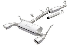 MagnaFlow 12-16 2-4dr JK MF Series 2.5in Cat Back Dual Outlet Polished Tip Stainless Exhaust (19326)