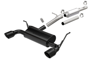 MagnaFlow 12-16 2-4dr JK MF Series 2.5in Cat Back Dual Outlet Black Coated Tip Stainless Exhaust (19327)