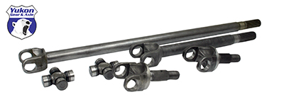 Yukon Gear 07-16 JK non-Rubicon 4340 Chrome-Moly Replacement Axle Kit with Super Joints for Dana 30 (YA W24166)