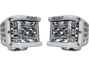 Rigid Industries D-SS White Finish Dual LED Lights