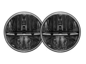 Rigid 7 Round Headlight Replacement pair w/ PWM Adaptors (55000)