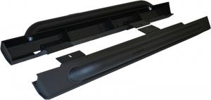 MBRP 07-16 Jeep JK Rock Rail Kit (2 Door), LINE-X Coated (130880LX)
