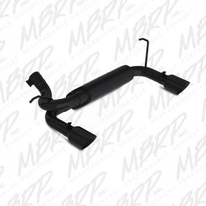 MBRP 07-14 Jeep JK Black Axle Back, Dual Rear Exit (S5528BLK)